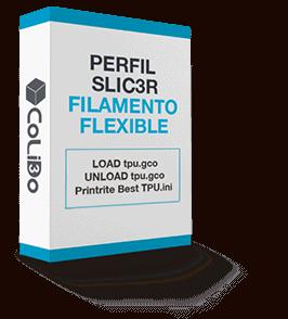 Perfil Slic3r para filamento flexible (TPU) CoLiDo